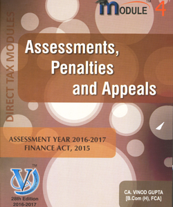 Assessments, Penalties and Appeals (Module-IV)