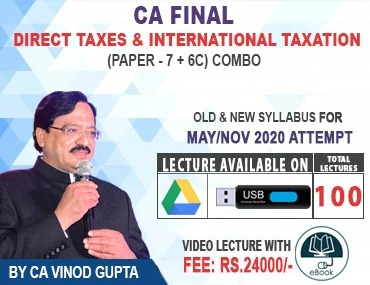 Direct Tax + International Taxation (Pendrive) For Nov 2020
